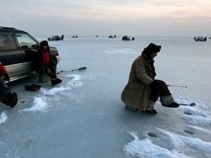 Небезопасные места для зимней рыбалки в Хакасии